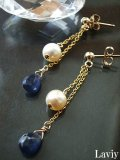 サファイアとアコヤ本真珠の贅沢ピアス