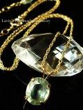 宝石プレナイトの1粒ネックレス