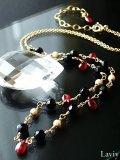宝石質ルビーのエキゾチックネックレス