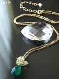グリーンカルセドニーのネックレス