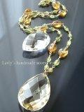 大粒宝石レモンクォーツのネックレス