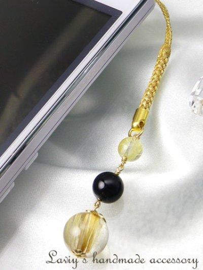 画像3: 高品質ルチルクォーツ・オニキスのシンプルストラップ