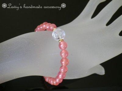 画像3: SAグレード!アルゼンチン産インカローズと桜水晶のブレスレット