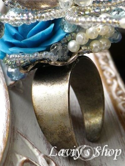 画像2: 【入札商品】Paradise Kiss劇中アイテム候補作品/青錆色の薔薇と蝶の指輪