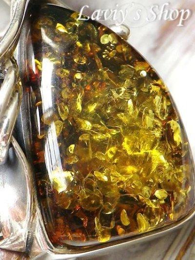 画像1: 大粒バルティックアンバー(琥珀)のペンダントトップ(ゴールデン)