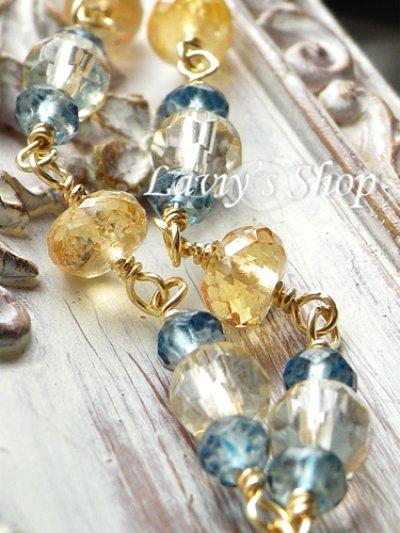 画像2: 宝石レモンクォーツブリオレットと秋色Gemのネックレス
