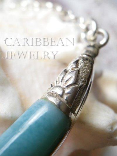 画像1: カジュアルラリマールの装飾デザインネックレス
