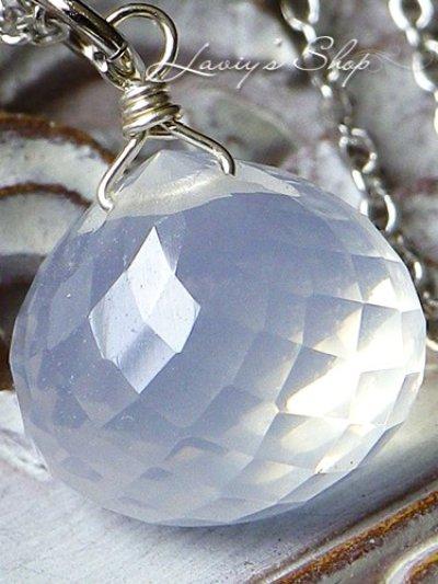 画像2: オニオンカットミルキークォーツの1粒ネックレス
