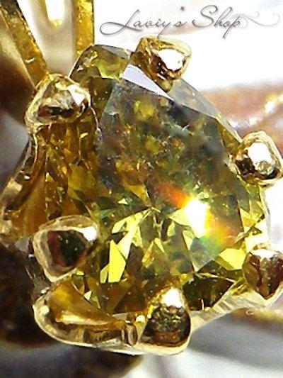 画像2: SI-1/ナチュラルイエローダイヤモンドのプチネックレス