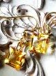 画像4: 宝石スクエアカットシトリンの1粒ピアス (4)