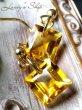 画像5: 宝石スクエアカットシトリンの1粒ピアス (5)