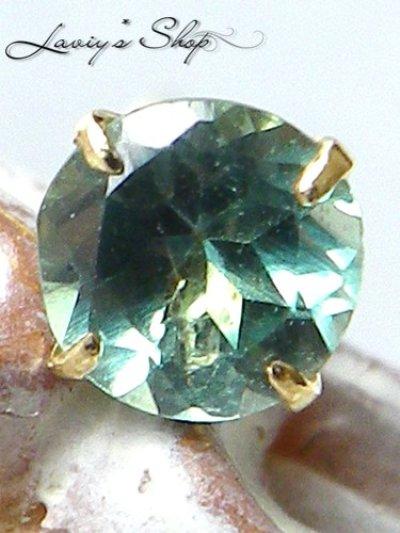 画像1: K18/インド産宝石アレキサンドライトのスタッドピアス(片耳)