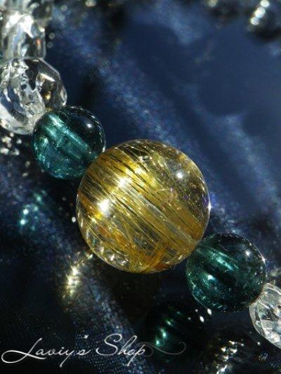 画像2: ゴールデンルチルとインディコライトのスピリチュアルブレスレット