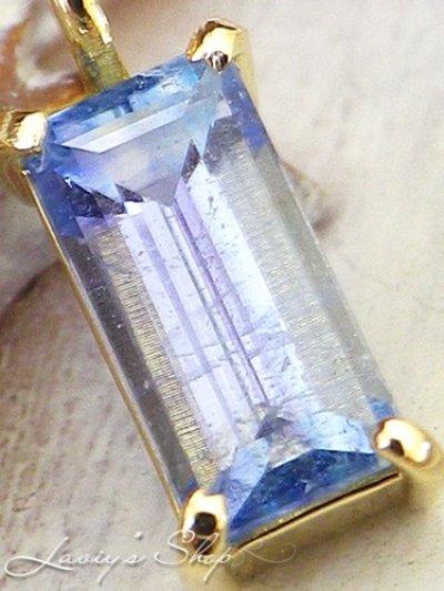 画像1: 手巻き枠!K18稀少宝石エレメージェーバイトの1粒ネックレス