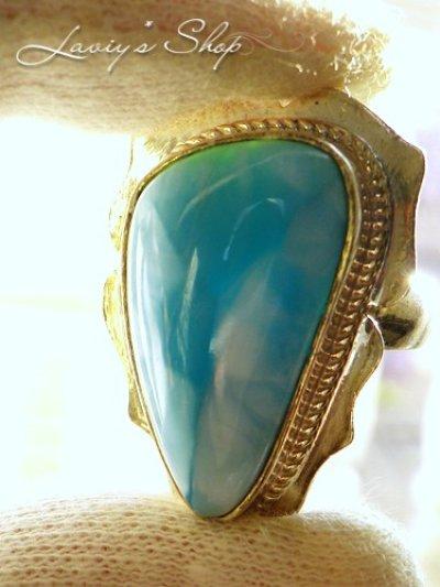 画像3: 大特価!高品質ラリマールのリング(12,4g)
