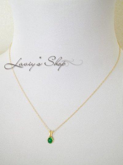 画像3: コロンビア産宝石エメラルドカボションの1粒ネックレス