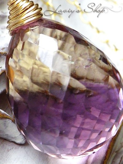 画像2: ぽってり大粒アメトリンブリオレットの1粒ネックレス