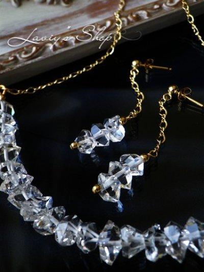 画像3: 高品質ハーキマーダイヤモンドポインタービーズのデザインピアス