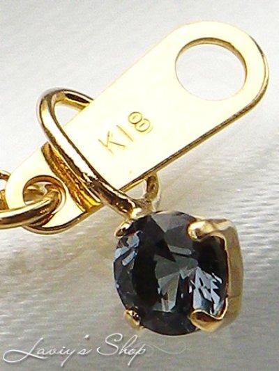 画像3: K18/宝石ベニトアイトのプチペンダントトップ
