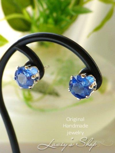 画像2: K14GF/宝石カイヤナイトのスタッドピアス