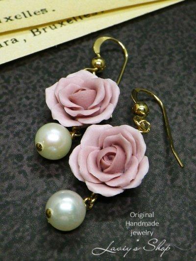 画像3: バロックアコヤ真珠とクレイローズのネックレス