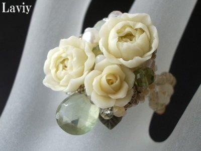 画像3: カップ咲きの薔薇とプレナイトのリング